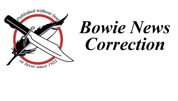bowie news correction