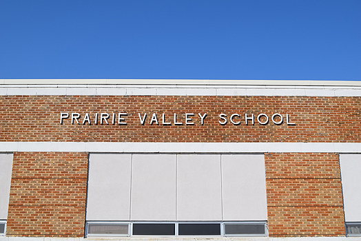 Prairie valley school building
