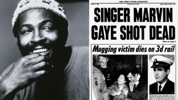 Image result for marvin gaye death newspaper articles