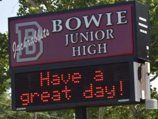 bowie jr high sign