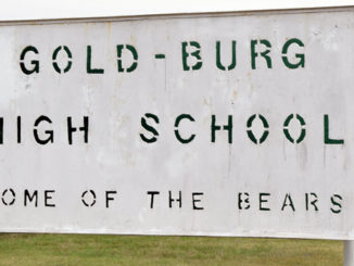 gold burg school sign for web