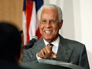 Douglas Wilder, first elected African American state governor.