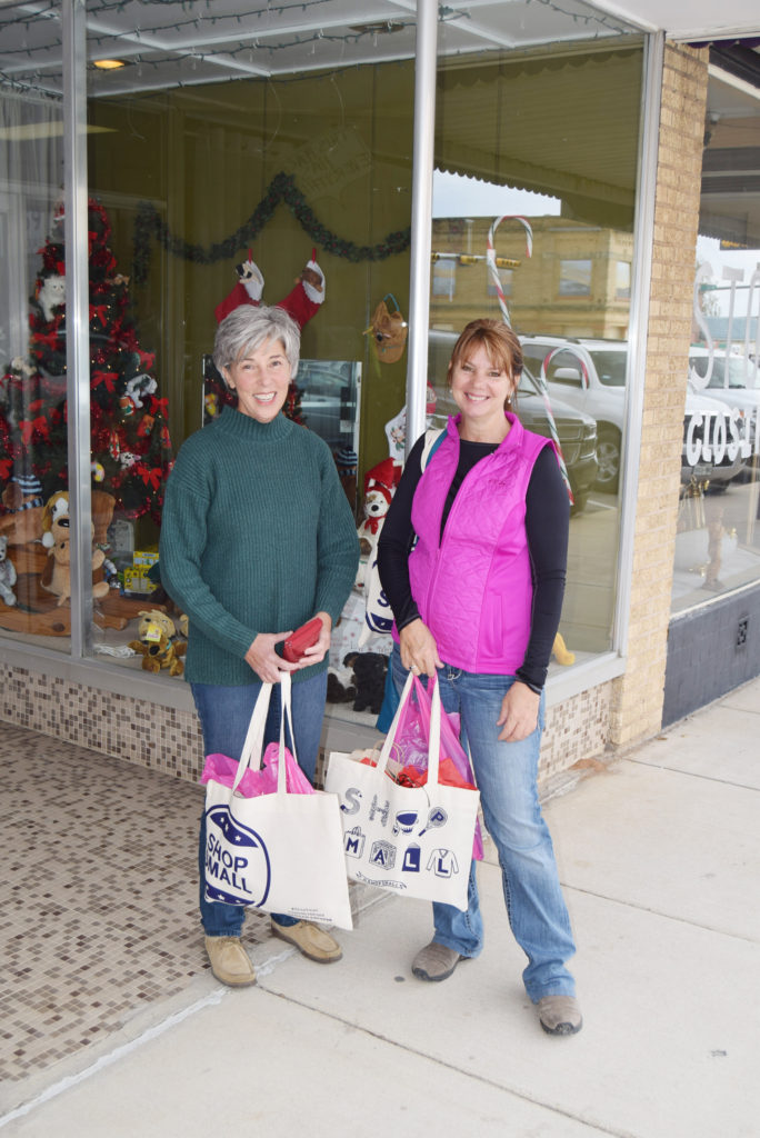 CaraLea Willoughby and Davina Long were enjoying an afternoon of shopping.