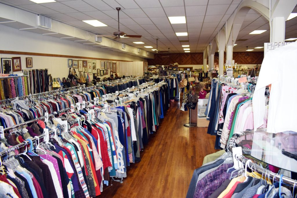 The restructured interior of the thrift store. (Photo by Dani Blackburn)