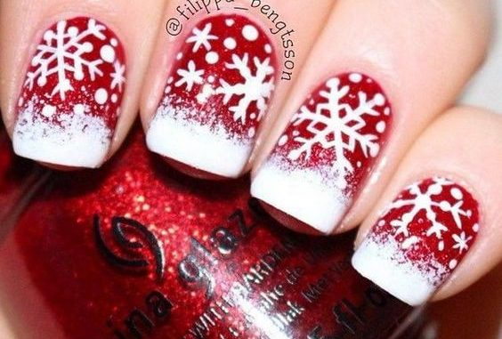 By Styletic - 50 Festive Christmas Nail Art Designs – Bowie News