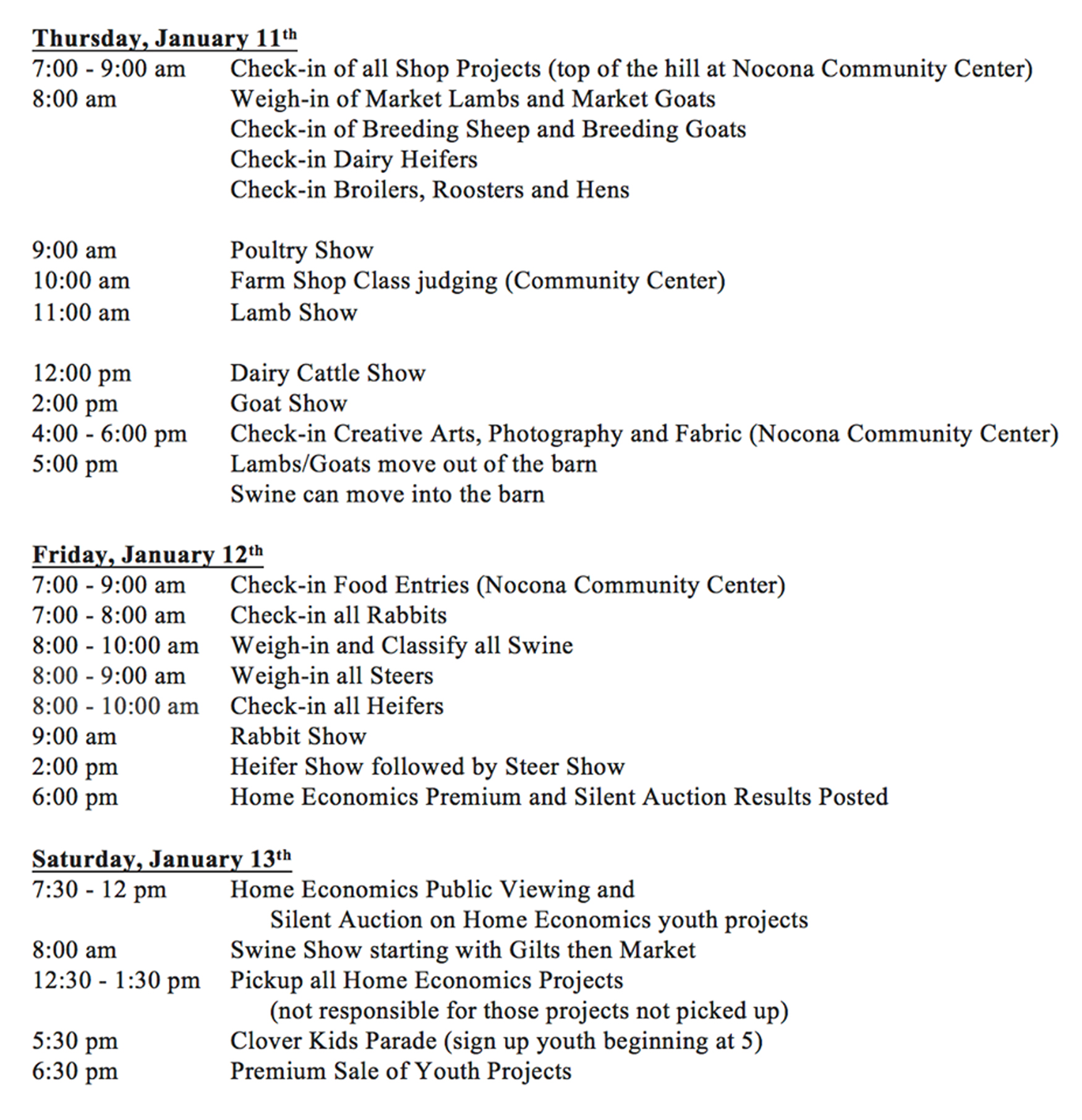 youth fair schedule copy