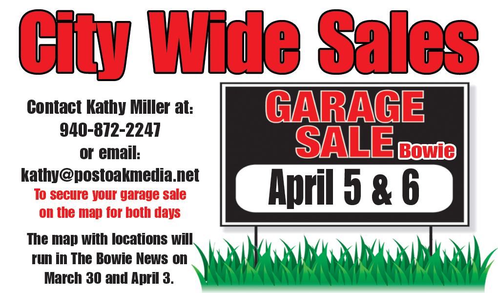 Get ready for the city wide garage sale April 5-6 – Bowie News